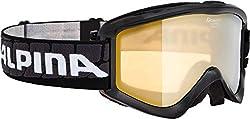 Alpina Sports Unisex- Erwachsene Smash 2.0 R Skribrille, Black, One Size