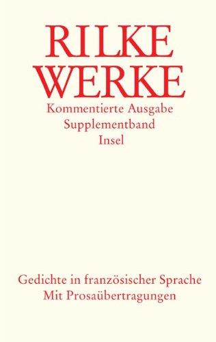 Supplementband: Gedichte in französischer Sprache