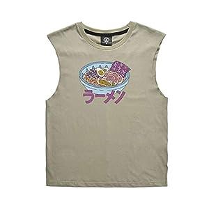 Lässige ärmellose Unisex-Weste, Noddles Printing Couple Shirt für den Sommer