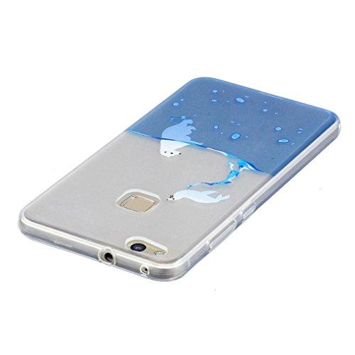 SZHTSWU 2 x Hülle für iPhone 5 / 5s / 5SE, Ultra Slim Thin Weiche TPU Ultradünn Silikon Schutzhülle Case Transparent Clear Flexible Rückschale Back Cover Etui Handy Hülle Bumper Abdeckung für Apple iP Wasser Feder