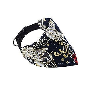 Générique Colliers de Chien modèle Pet Sling Pet Bandage Triangulaire écharpe pour Animaux de Compagnie Écharpe d'impression de Foulard pour Chien - Noir - XS