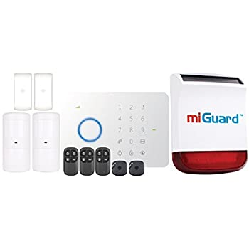 ERA miGuard G5-A1R Wireless Alarm - Remote Monitoring GSM / SMS Communicating Burglar Deterrent Solar Siren Kit