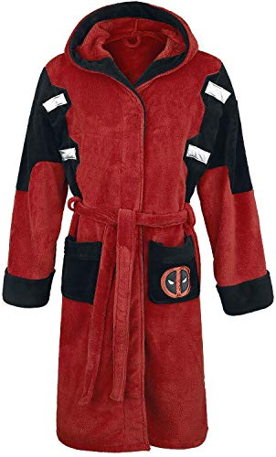 Deadpool Peignoir de Bain Adulte Officiel Marvel Polaire - Taille Uniqu