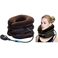 GADGET WEAR Neck Traction Device Effective And Fast Relief Neck Pain Inflatable Neck Stretcher Collar Device