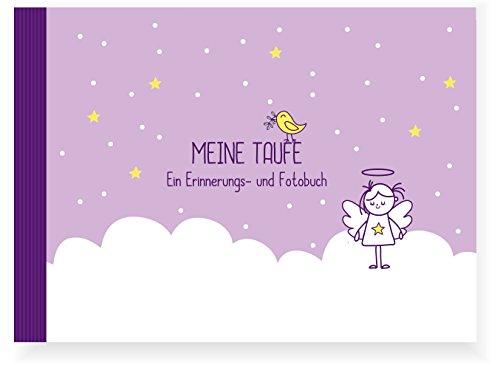 Taufbuch Mädchen (Taufalbum/ Erinnerungsbuch/ Eintragealbum, Recycling-Papier, Taufgeschenk)