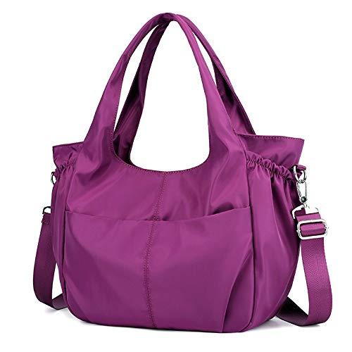 Nylon Lässig Rucksack Leichte Tasche Multi Messenger Tasche Mommy Bag (Color : Purple, Size : 32 * 14 * 29cm) - Leichte Multi-tasche