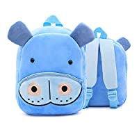 RUISSEN Kids Backpack Animal Cartoon School Bag for Children Boys Girls Preschool Rucksack(2-4 Years Old) (Hippo)