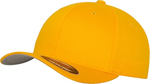 Zähne Kappen (Flexfit 6277 Wooly Unisex Combed Cap, gold, Youth)