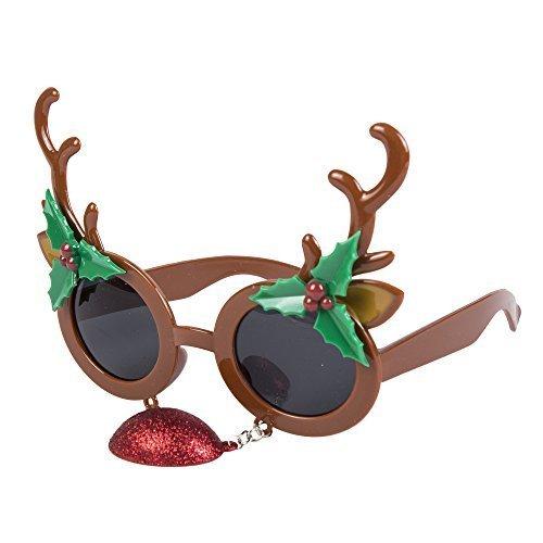 Neuheit Weihnachtsmotiv Gläser (Weihnachtsbaum, Weihnachtsmann, Rentier, Schneeflocke usw) - Geweih mit Nase