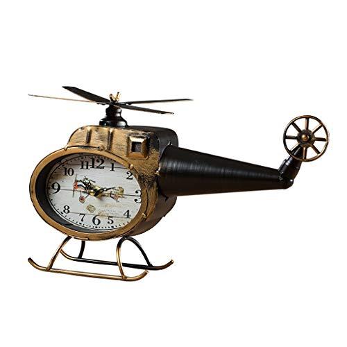 Modelo helicóptero Reloj Decoración Escritorio Bloque