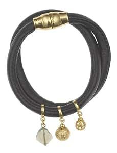 PILGRIM 611-912 Armband, Leder, gold