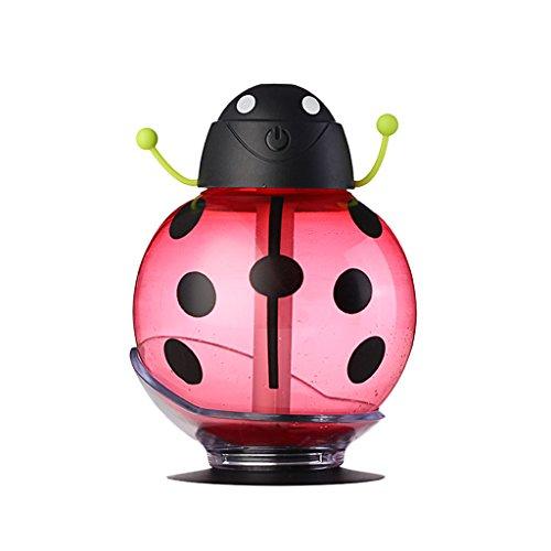 USB Mini Marienkäfer Muster Luftbefeuchter Haus Tisch Dekor - Rot
