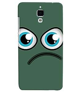 PrintVisa Cute Cartoon Sad 3D Hard Polycarbonate Designer Back Case Cover for Xiaomi Redmi Mi4