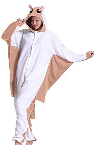 wotogold Damen 1 Tier Gleithörnchen Pyjamas Cosplay Kostüme 1 Large Braun