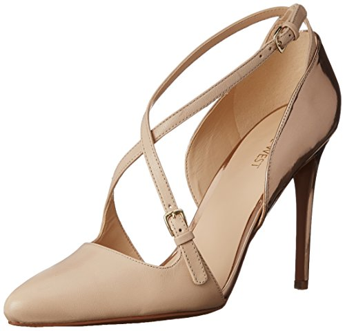 Nine West Earnest Kleid aus Leder Pump Light Natural/Light Natural