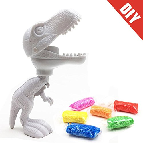 DIY erstellen Farbe Dinosaurier schlamm Malerei Spielzeug Snow Pearl Mud Schaumstoff Modelliermasse