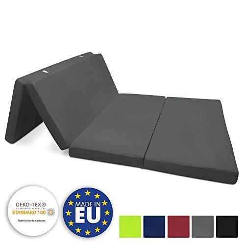 Beautissu Cómodo colchón Plegable Campix Auxiliar futón 120 x 195 x 7 cm Ahorra Espacio Tela Microfibra...