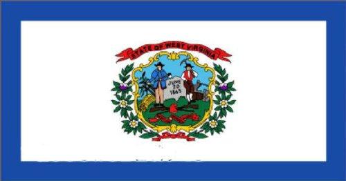 Fahne USA West Virginia NEU 90 x 150 cm Flaggen