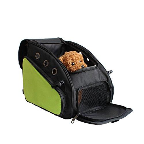 SHKY Hund Auto Sitz / Katze Carrier / Pet Carrier / Hund Sitz Gürtel / Booster Sitz Reise Tragetasche Cage Tote Zwinger Laufstall Easy Folding , car bag - green (Fluggesellschaft Genehmigt Hund Zwinger)