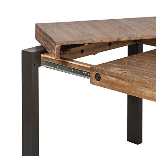 Table repas extensible style industriel / Structure métal et ...