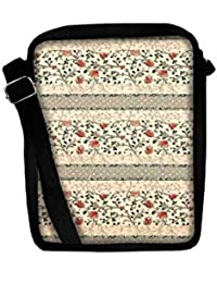 Snoogg Floral Pattern Red And Cream Sling Bags Crossbody Backpack Chest Day Pack Travel Bag Book Bag For Men &...