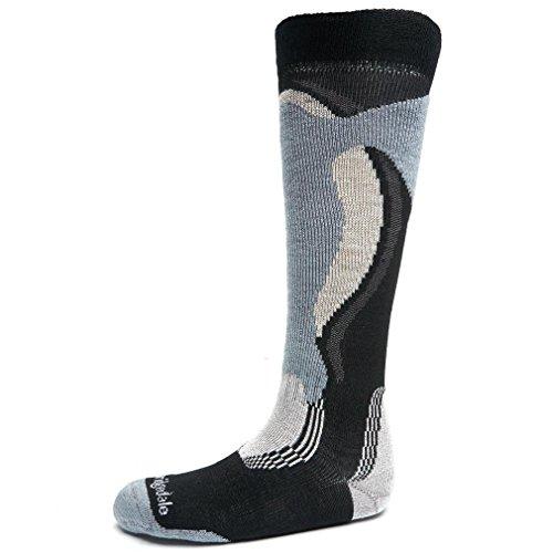 Bridgedale Ski Herren Midweight Control Fit Socke xl Schwarz/Stein