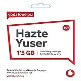 Vodafone Yuser - Tarjeta SIM, 1,2GB, 15 Minutos y Roaming.