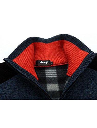 MatchLife Herren Stehkragen Pulli Jumper Pullover Style2-Navy Blue