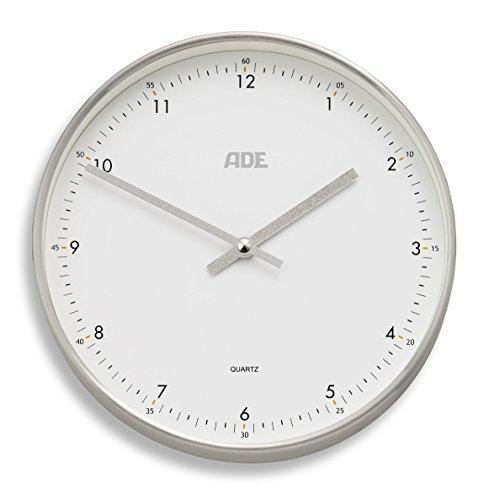 ADE analogico orologio da parete radiocontrollato CK 1603(bianco–argento)