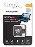 Integral Carte Mémoire 512Go Micro SDXC + Adaptateur SDHC/SDXC Premium Haute Vitesse...