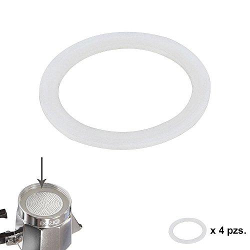 Oryx guarnizione caffettiera induzione 12tazze, silicone, bianco, 9x 9x 3cm, 4pezzi