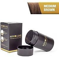 Corrector Nanoluxe, tamaño mediano, marrón, fibras con pelo, 25g