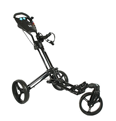 "'Yorrx SL Golf Trolley PRO 7 Hamma ""Plus Golf Push Cart With Innovative 360 ° Spin Front Wheel (Free 360 °), Special Offer: With Umbrella Holder And Tees."
