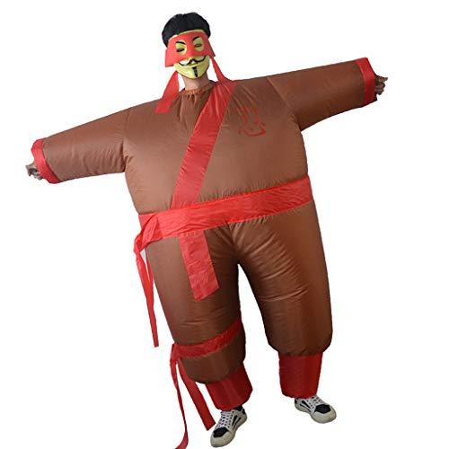 Baoblaze Ninja Kostüm Aufblasbares Kostüm Luft Anzug Fatsuit Cosplay für Jede - Aufblasbare Ninja Kostüm
