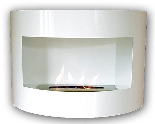 Gel y etanol chimenea de pared Riviera Deluxe Blanco chimenea de acero...