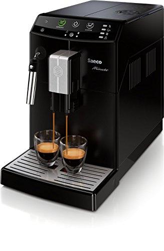 Saeco Minuto - Cafetera (Independiente, Máquina espresso, 1,8 L, Molinillo integrado, 1850 W, Negro)