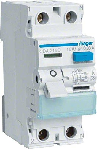 Preisvergleich Produktbild Hager CDA216D FI-Schalter 16A 30mA A-Typ 2-polig