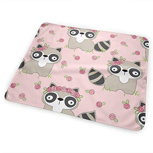 swerrtty Raccoons-and Roses_2700 Changing Pad Portable - Biggest Changing Mat to Change Diaper (25.5
