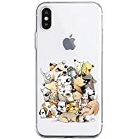 Oihxse Case Transparente Suave TPU Compatible con iPhone 11 Pro Funda [Lindo Caricatura Flor Serie Dibujos] Cristal Protector Carcasa Anti Rasguños Bumper Cover-Perro