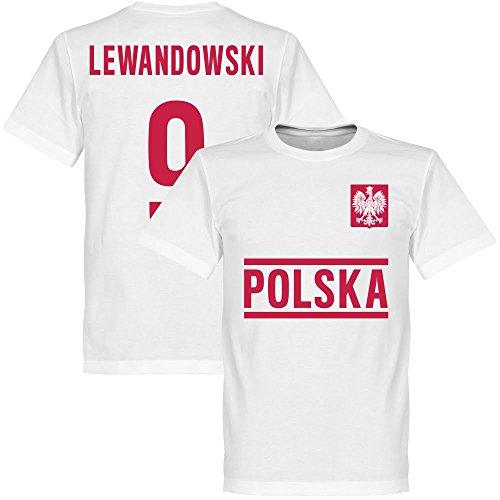 Polen Lewandowski Team T-Shirt - weiß - XXXXL