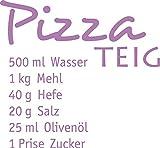 GRAZDesign 620143_30_042 Wandtattoo Rezept Pizza Teig für Küchen-Wand | Küchen-Sprüche für Küchenschränke | Wandsticker aus Klebefolie - auch im Esszimmer oder Bar dekorieren (33x30cm//042 flieder)