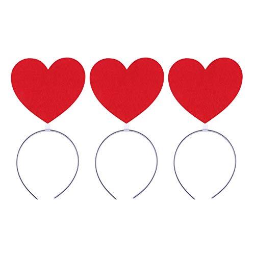 Haarreifen Stirnband Haarband Valentinstag Hochzeit Kopfbedeckung Neujahr Party Photo Booth Props (Rot) ()
