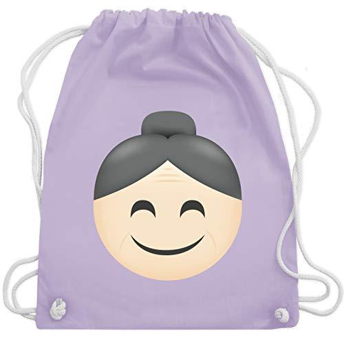 (Comic Shirts - Oma Emoji - Unisize - Pastell Lila - WM110 - Turnbeutel & Gym Bag)