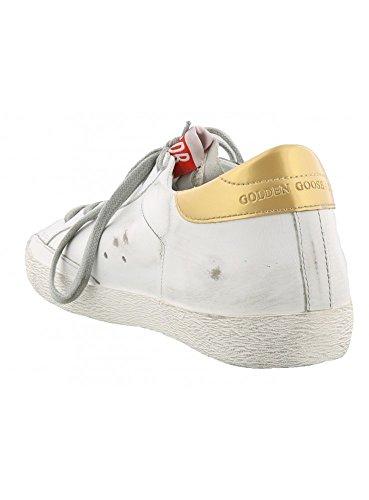 Golden Goose , Chaussons de gymnastique pour femme or Blanc 34 or Blanc
