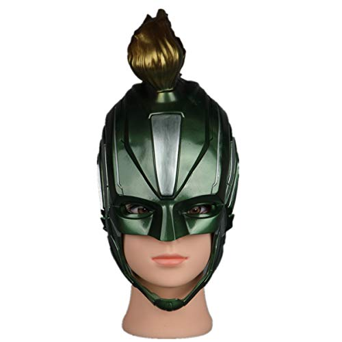 l Mask Carol Danvers Headgear Helmet Halloween Movie Props Cosplay Hero (Green) ()