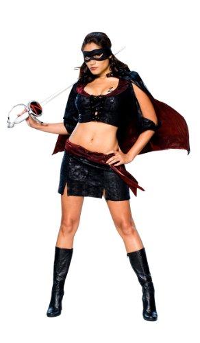 ür Damen (Lady Zorro-kostüm)