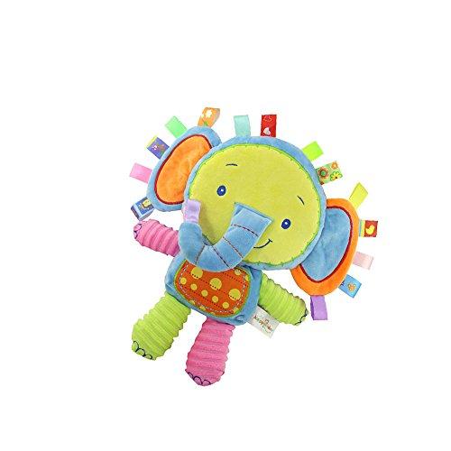 INCHANT Elephant Taggies Aktivität Spielzeug, reizendes Baby-Tag Plüschtiere, Taggie Tröster Spielzeug - Cheer Up Your Baby Animal Sinnes Spielzeug