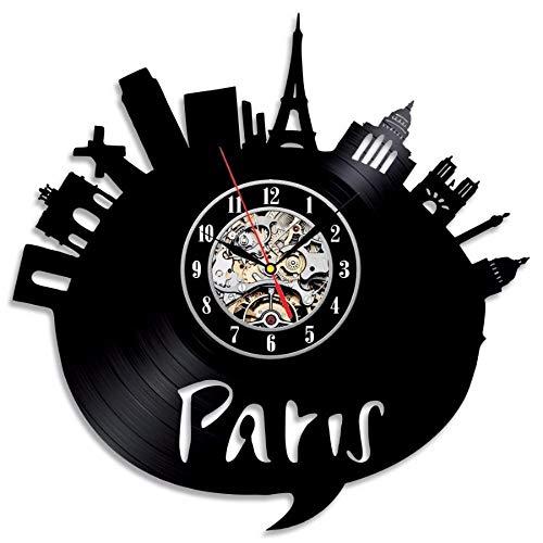is Stadt Thema Vinyl Wanduhr Schlafzimmer DekorationZifferblatt Vision ()