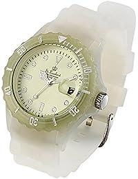 St. Leonhard Sportliche Silikon-Quarz-Armbanduhr, Lupen-Mineralglas, nachleuchtend
