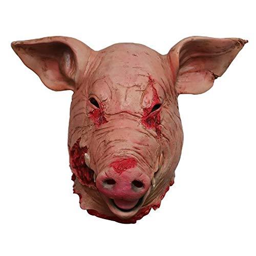 Eizer Schweinemaske, Latex Horror Bloody Pig Gesichtsmaske für -